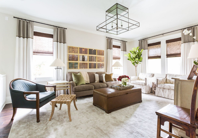 Art and Lighting. Living room lighting and art. #livingroom #art #lighting Marie Flanigan Interiors