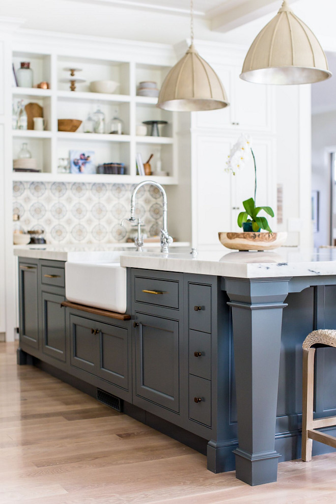Farrow and Ball Paint Colors. Farrow and Ball Down Pipe. Farrow and Ball Down Pipe is a deep color that works great on cabinets, doors and exteriors. Farrow and Ball Down Pipe. Farrow and Ball Down Pipe #FarrowandBallDownPipe Caitlin Creer Interiors. C. S. Cabinetry & Design
