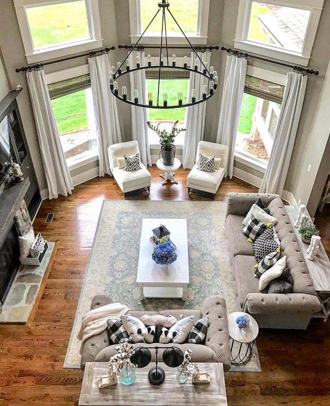 Great room furniture layout. Great room furniture layout ideas. Great room furniture with two sofas, chairs, coffee table. Great room furniture layout #Greatroom #furniture #layout Home Bunch Beautiful Homes of Instagram @mygeorgiahouse