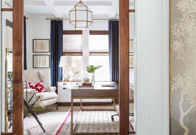 Home Office Pocket Doors. Marie Flanigan Interiors