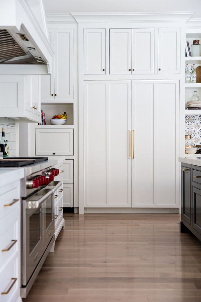 Kitchen Hardwood floors are Whitewashed Oak. Caitlin Creer Interiors. C. S. Cabinetry & Design