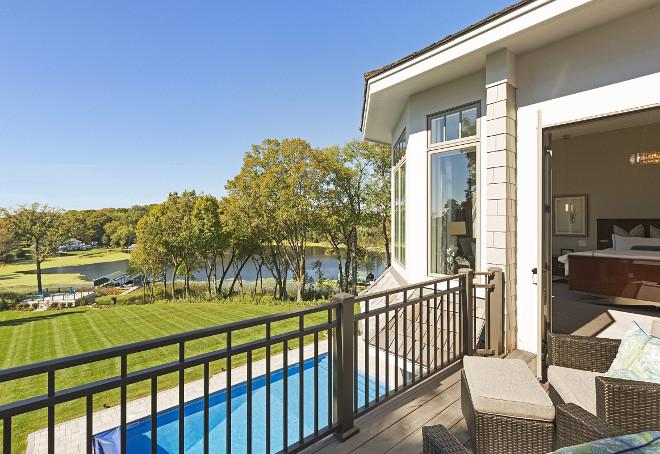 Lake house backyard with dock. Stonewood, LLC