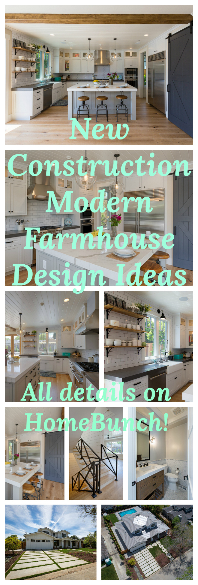 New Construction Modern Farmhouse Design Ideas. See all details and sources on Home Bunch