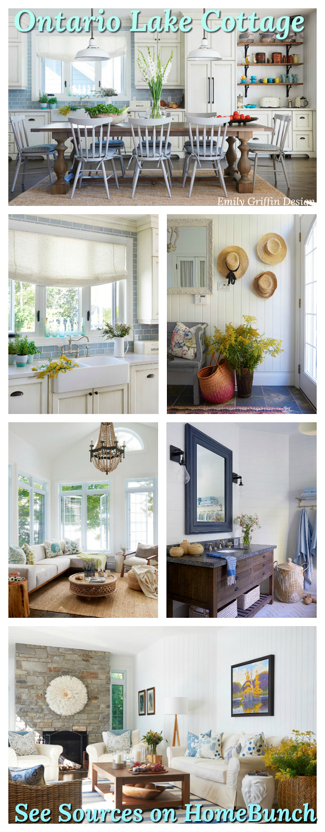 Ontario Lake Cottage Home Decor and Paint Colors