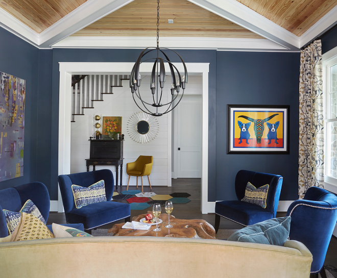Sherwin Williams Sea Serpent. Navy blue with grey undertones Sherwin Williams Sea Serpent. Sherwin Williams Sea Serpent #SherwinWilliamsSeaSerpent Morning Star Builders