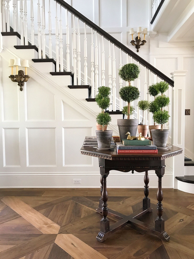 Wood floors. Hardwood floor. Hardwood flooring. Wood floors are Du Chateau-walnut with an oil stain. Wood floors are Du Chateau-walnut with an oil stain. #woodfloor #hardwoodfloors #hardwoodflooring Beautiful Homes of Instagram @SweetShadyLane