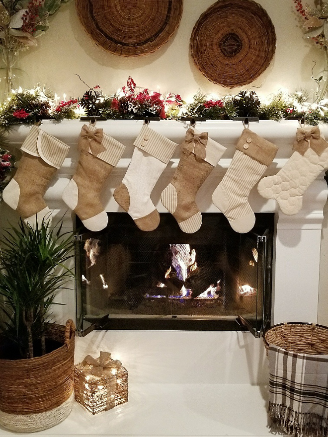 Neutral Stockings Mantel Neutral Stockins Neutral Stockings Mantel Neutral Stockings