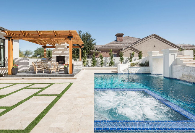 Pool with spa. Pool with spa. Pool with spa. Pool with spa. Pool with spa. Pool with spa #Pool #spa A Finer Touch Construction