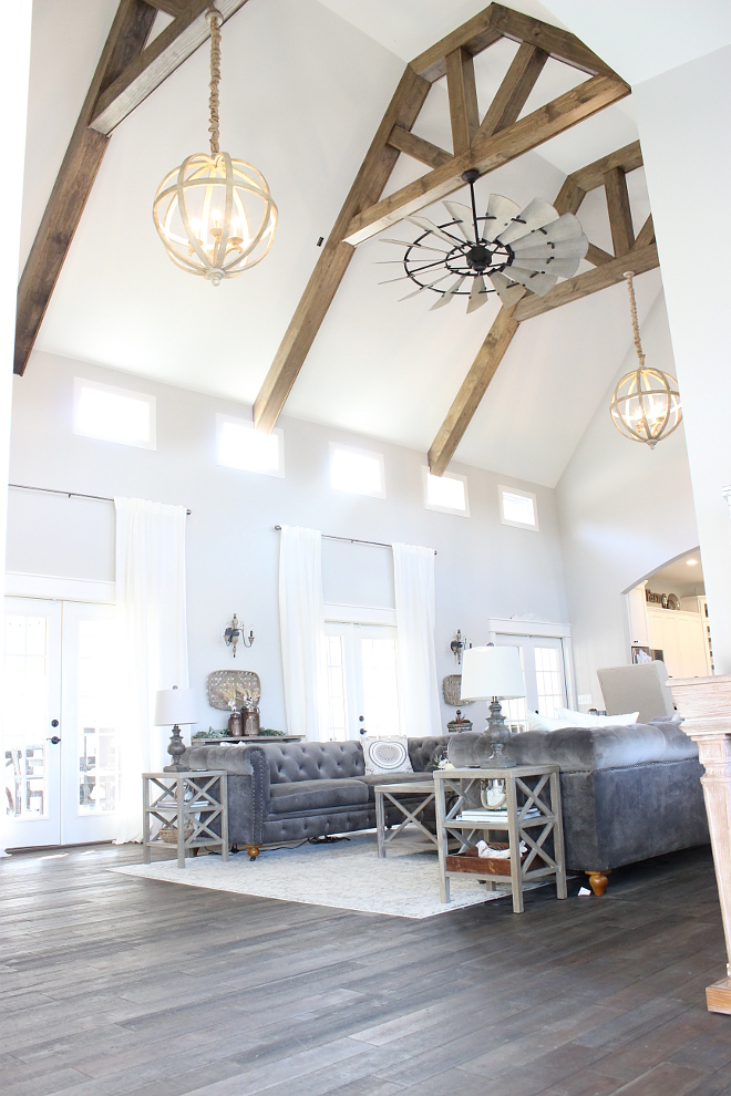 The living room ceilings are cathedral height at 24 feet The living room ceilings are cathedral height at 24 feet Home ideas The living room ceilings are cathedral height at 24 feet #livingroomceilings #cathedralceiling #cathedralceilingheight Beautiful Homes of Instagram Home Bunch