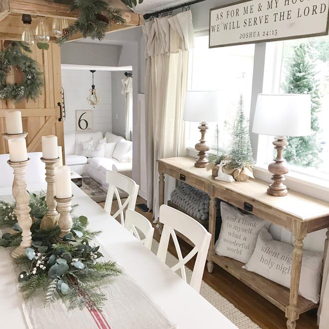 Farmhouse Dining Room Console Table