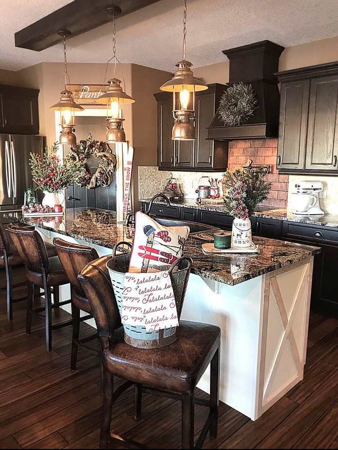 Beautiful Homes of Instagram - Home Bunch Interior Design ... on Farmhouse:4Leikoxevec= Rustic Kitchen Ideas  id=21189