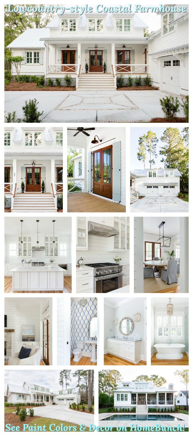 Lowcountry-style Coastal Farmhouse Paint Color and decor pictures