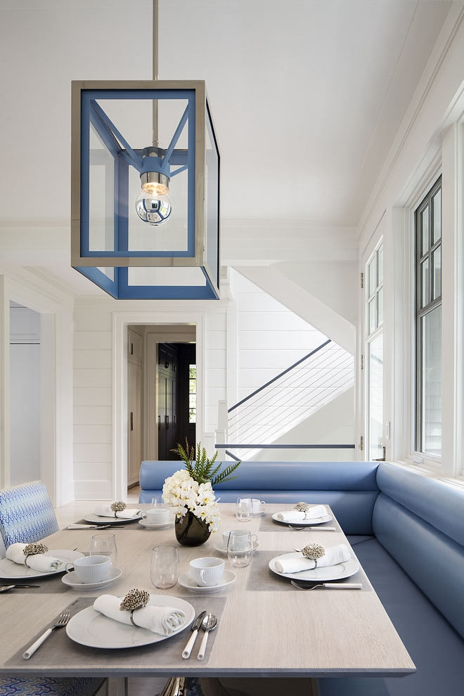 Blue and white Breakfast Nook Hamptons Blue and white Breakfast Nook Blue and white Breakfast Nook