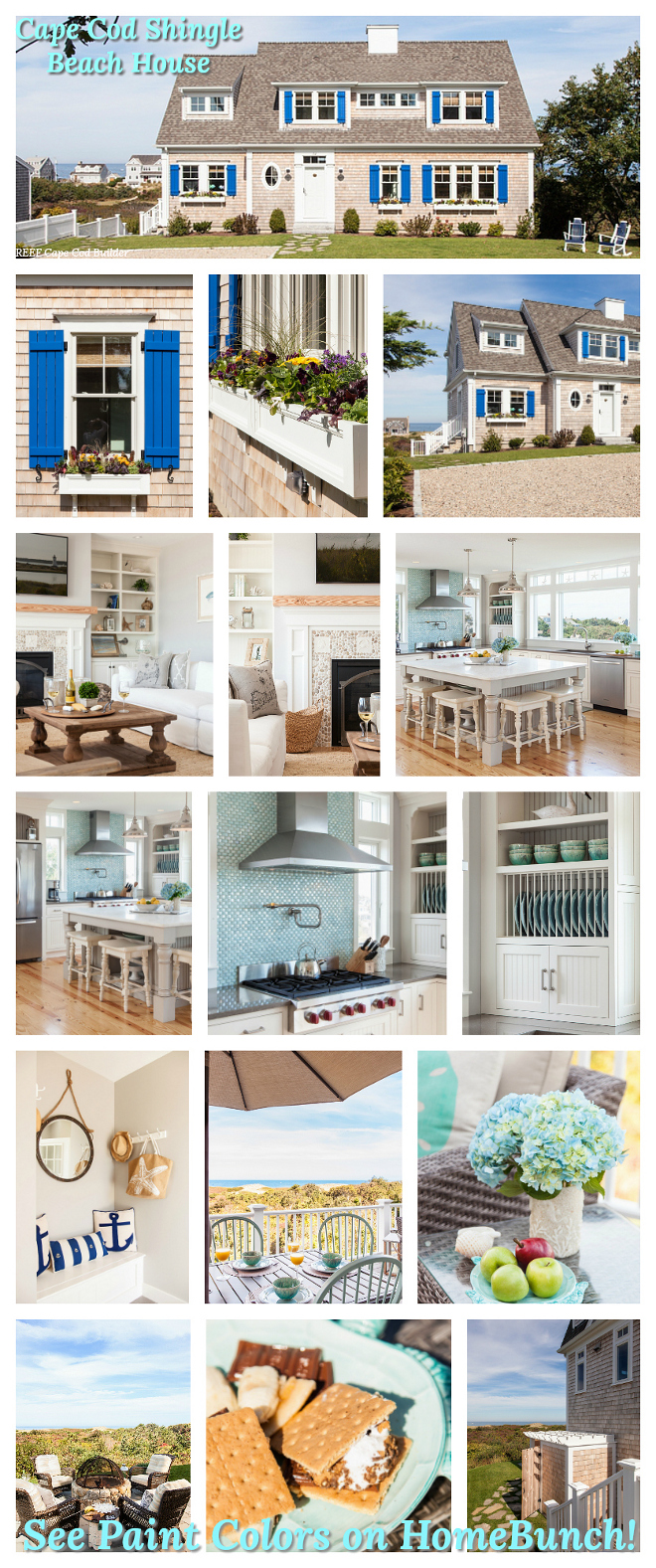 Cape Cod Shingle Beach House Paint Color Color Palette