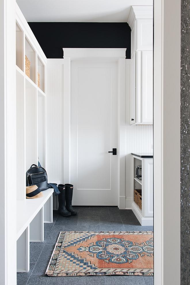 Black Door Lever on white door