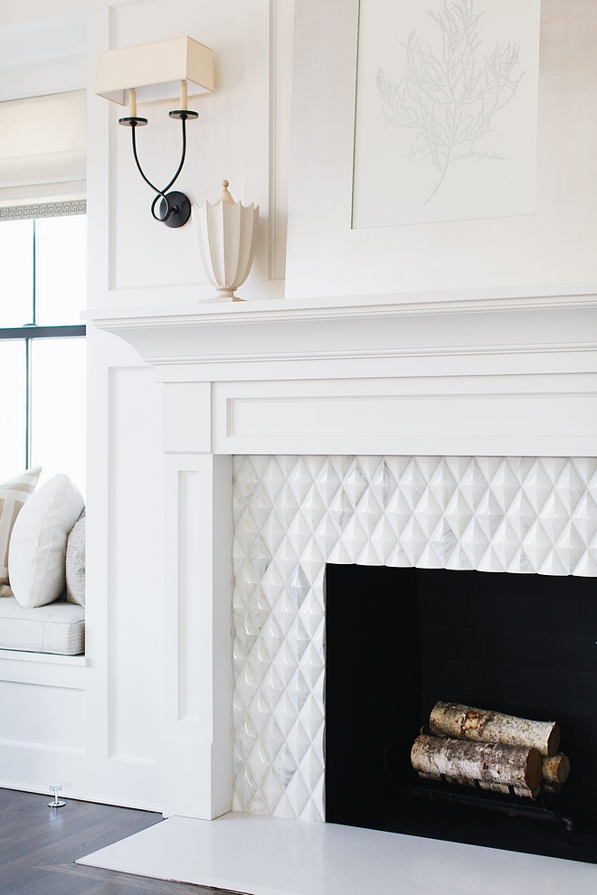 Beveled Diamond Tile Fireplace with Beveled Diamond Tile Beveled Diamond Tile Marble Beveled Diamond Tile White marble Beveled Diamond Tile