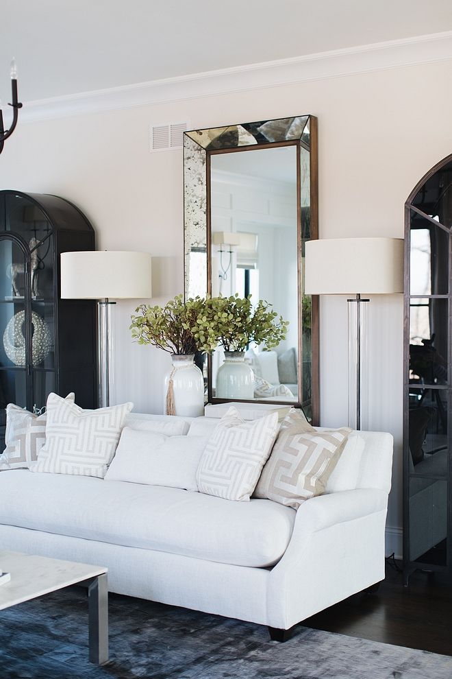 Living room floor lapm Restoration Hardware French Column Glass Floor Lamp Floor lamps