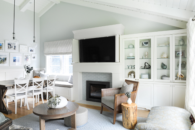 Wickam Gray by Benjamin Moore Soothing main floor paint color