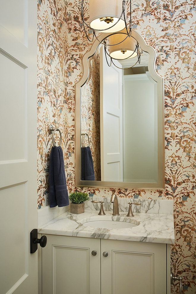 Bathroom Wallpaper Damask Wallpaper Removable Wallpaper Bathroom Wallpaper #RemovableWallpaper #Wallpaper #bathroomWallpaper #DamaskWallpaper
