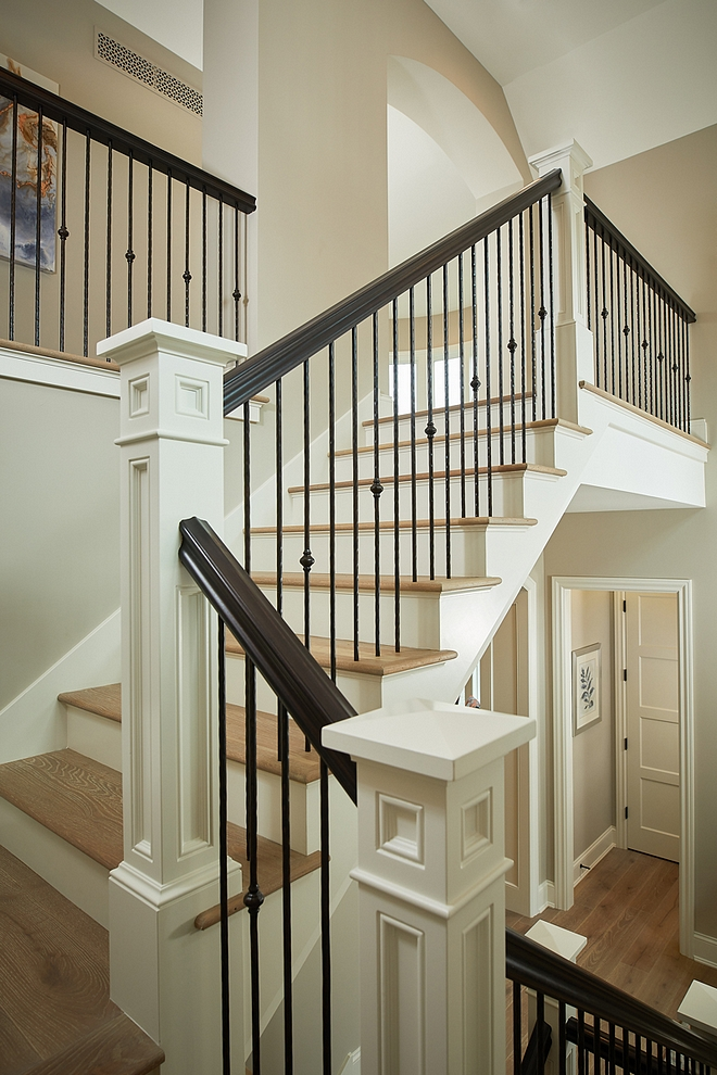White Dove by Benjamin Moore Stairway Trim Paint Color Stairway Trim Paint Color Stairway Trim Paint Color #StairwayPaintcolor #Trim #PaintColor #WhiteDovebyBenjaminMoore