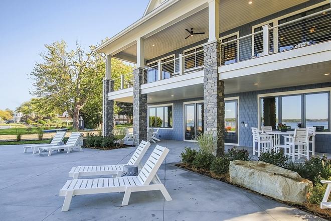 Backyard with concrete patio
