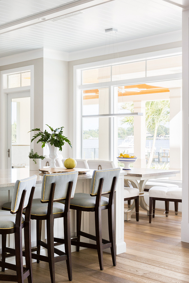 Breakfast nook with tall windows breakfast nook window ideas