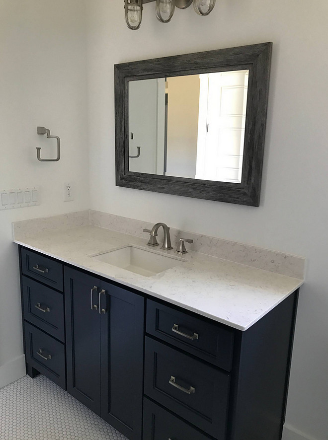 Hale Navy Benjamin Moore Bathroom Vanity Bathroom Hale Navy Benjamin Moore Bathroom Vanity #HaleNavyBenjaminMoore #Bathroom