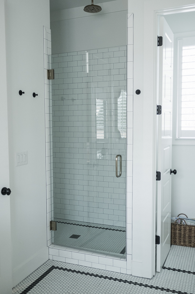 Master shower Tile Largo 3x6 white glazed field tile