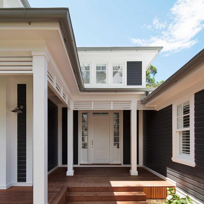 Dulux Domino Black Exterior Paint Color Black siding Black Paint Color on exterior #blackexterior #blacksiding #blackpaintcolor