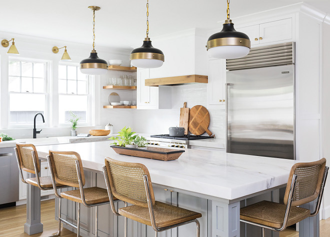 White Crisp Modern Farmhouse Kitchen Paint Color Super White by Benjamin Moore PM-1