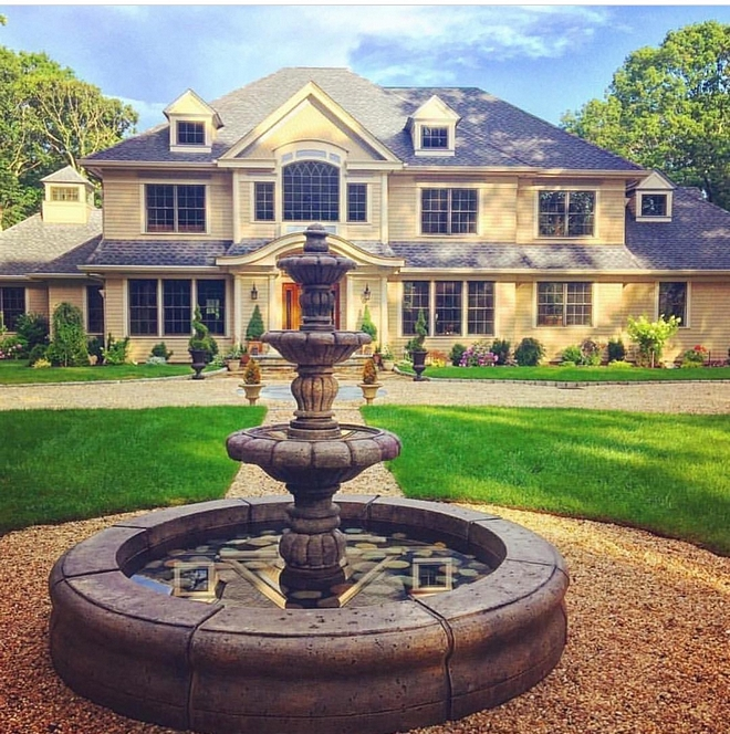 Garden Fountain The fountain is a three tiered outdoor fountain with an Old Euro Basin that has a diameter of 104 inches #garden #fountain #traditionalfountains