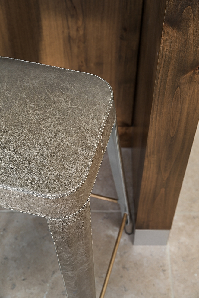 Kitchen Leather counterstools The leather counterstools are Jamy counterstool from MadeGoods Leather counterstools #Leathercounterstools