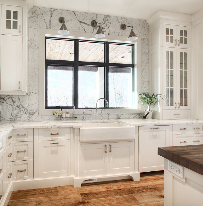 White Dove by Benjamin Moore with white marble Kitchen White Dove by Benjamin Moore with white marble #WhiteDovebyBenjaminMoore #whitemarble