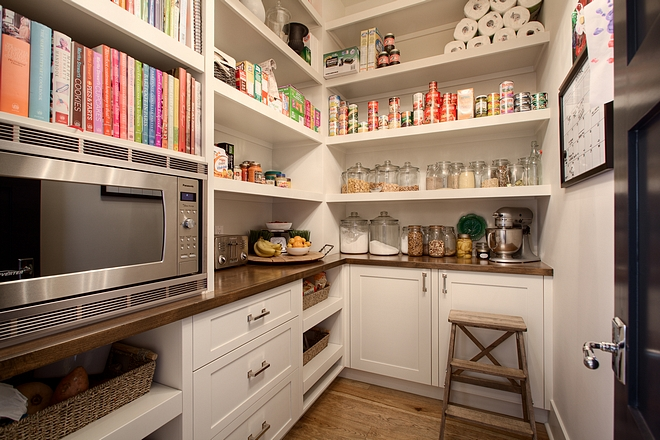 "Pantry shelves pantry dimensions The counter is 24"" deep and the pantry is aprox 7x5.5 #pantry #pantrydimensions"