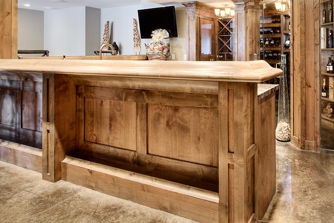 Alder bar cabinet