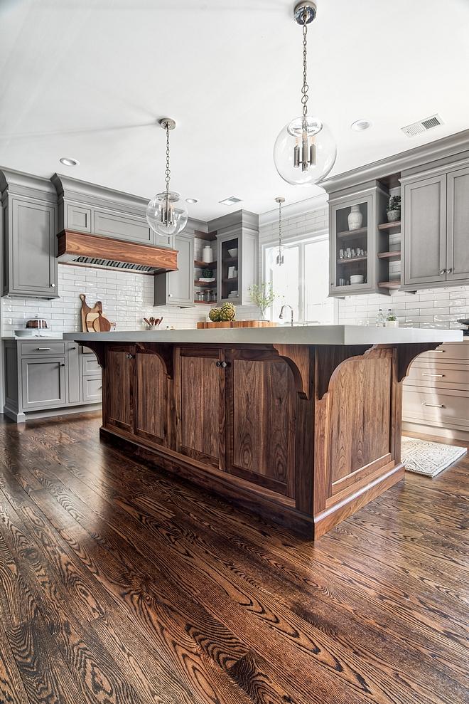Kitchen Hardwood Flooring MinWax Dark Walnut, 3 coats Oil based Satin Finish #HardwoodFlooring #MinWaxDarkWalnut