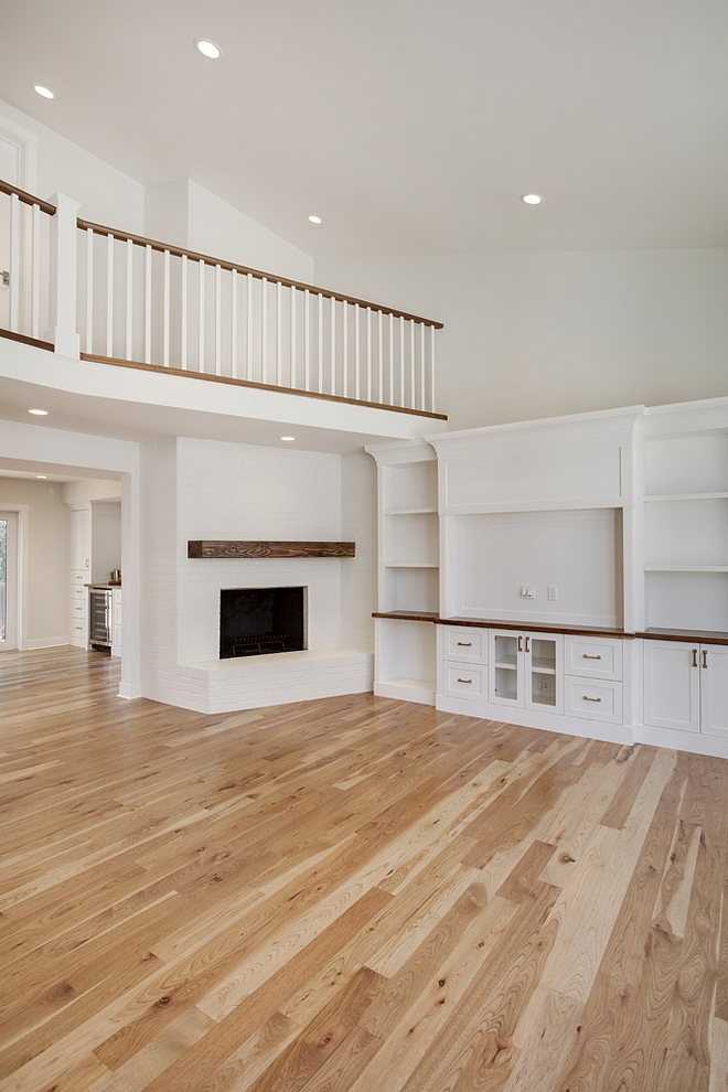 "Hardwood flooring throughout is 4"" rustic Hickory with a custom stain finished on site Hickory Hardwood Flooring Hickory Hardwood Flooring sources Hickory Hardwood Flooring finishing Hickory Hardwood Flooring #Hickory #HardwoodFlooring"