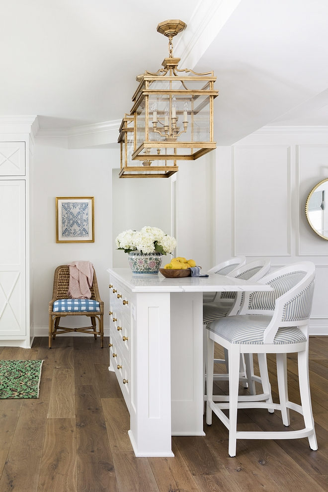 Narrow long kitchen island Thin Kitchen Island for small spaces Narrow but long kitchen island with three counterstools Narrow Kitchen Island for small kitchens dimension on Home Bunch #narrowkitchenisland #narrowisland #kitchenisland #smallkitchekitchenisland