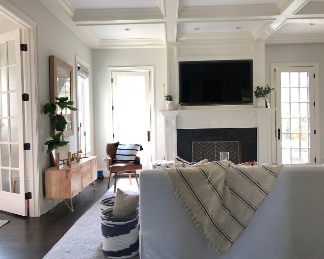 All trim was painted in White Dove by Benjamin Moore
