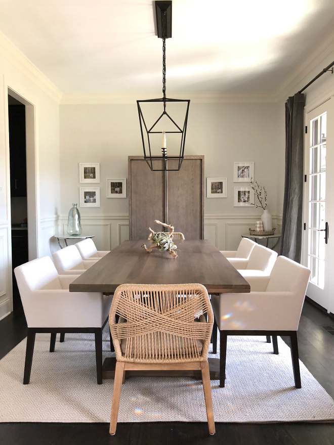 Dining Room I wanted the dining room to have a bit of a modern and casual feel We love that it opens up to the front porch with French doors We love sitting in the porch all summer long #DiningRoom