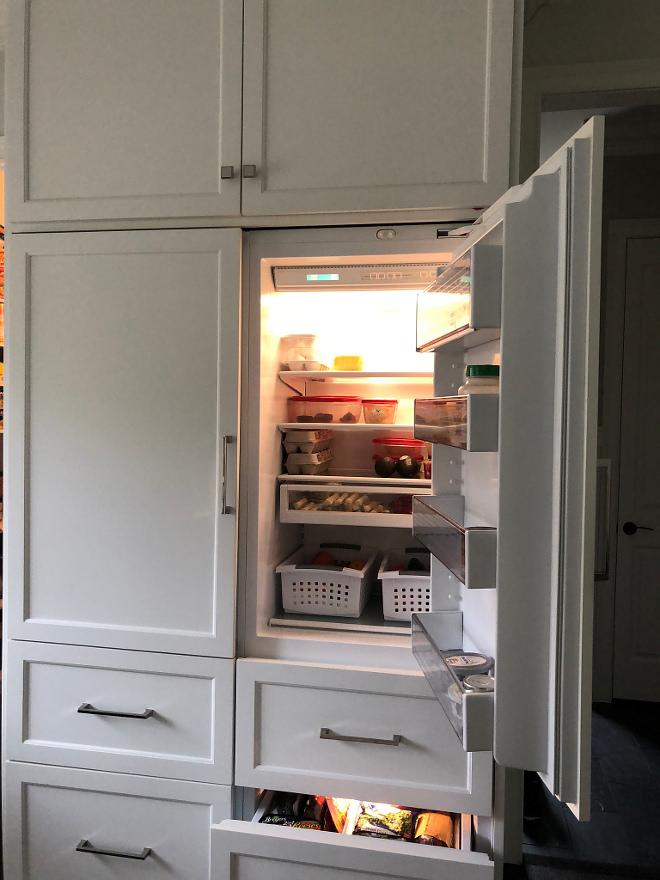 Paneled Refrigerator Love my Sub-zero double fridge with freezer drawers so much Paneled Refrigerator Paneled Refrigerator Paneled Refrigerator #PaneledRefrigerator
