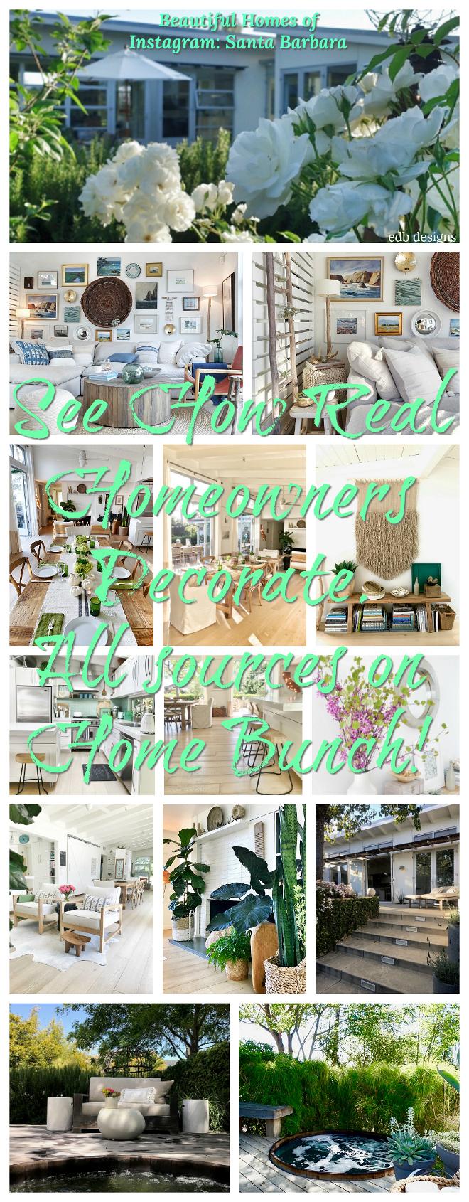 Beautiful Homes of Instagram Santa Barbara Home Bunch Blog series