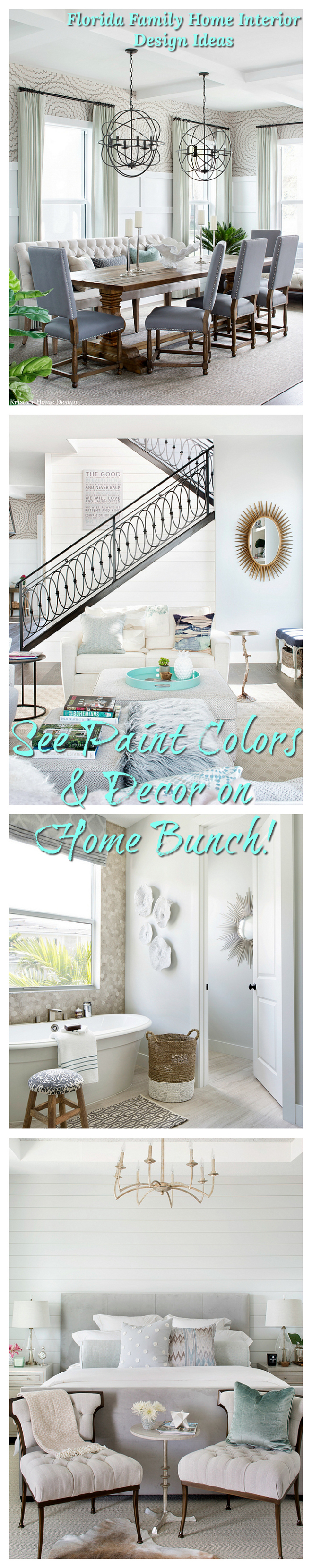 Florida Family Home Interior Design Ideas Paint Colors and Decor on Home Bunch Florida Family Home Interior Design Ideas #Florida #FamilyHome #InteriorDesignIdeas