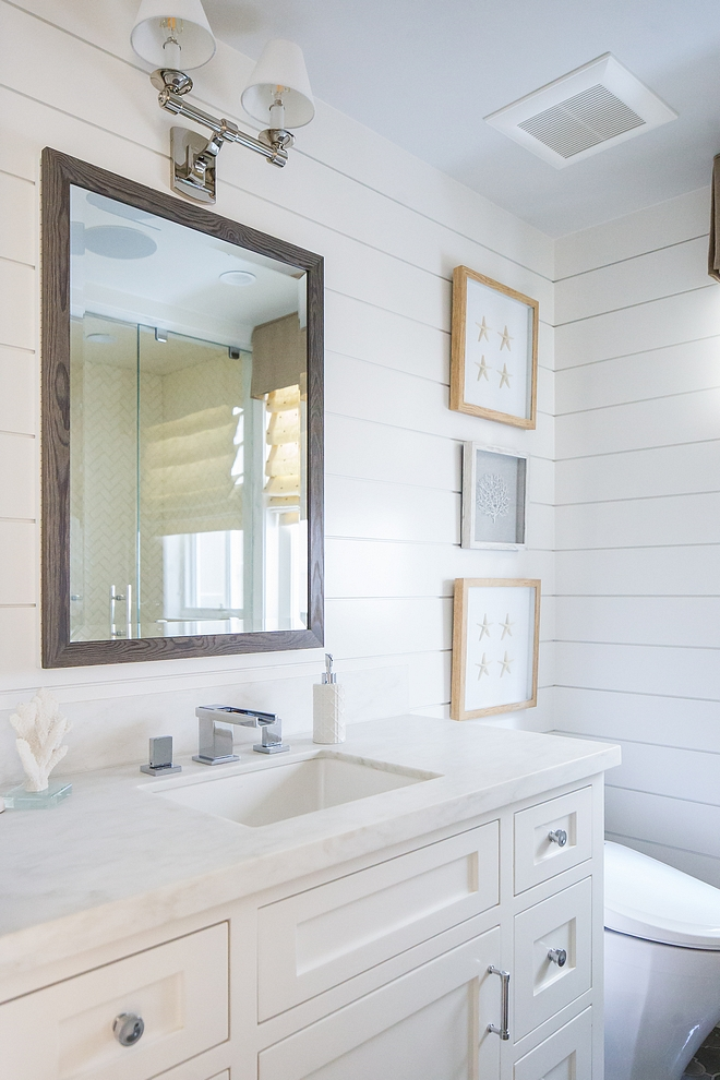 horizontal shiplap Bathroom horizontal shiplapThe secondary bathrooms feature horizontal shiplap Bathroom horizontal shiplap horizontal shiplap #horizontalshiplap #bathroom #bathroomshiplap