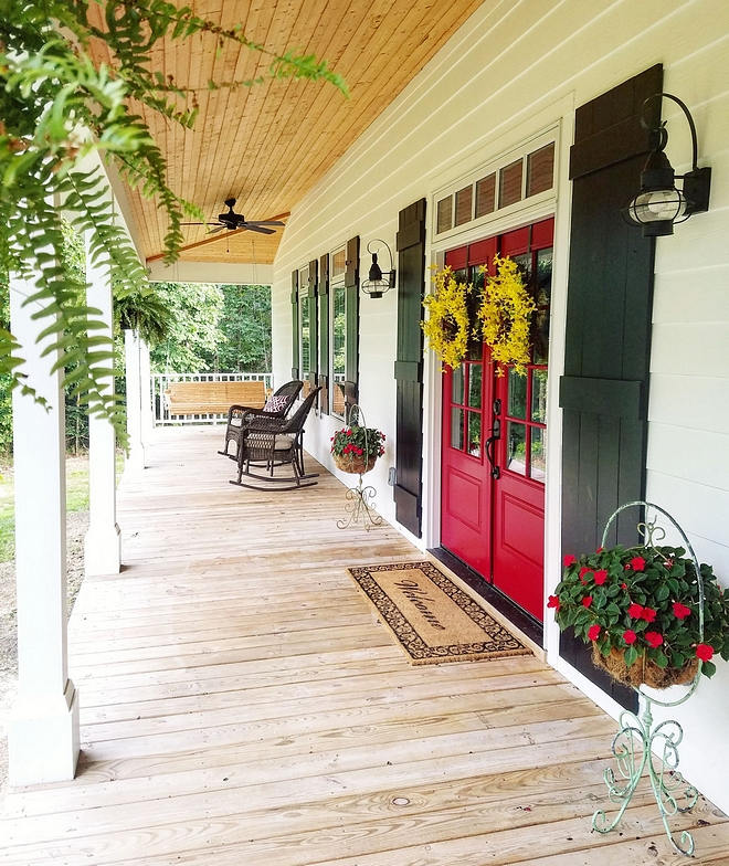 Red Door Sherwin Williams Pure Red SW 6868 Sherwin Williams Pure Red SW 6868 The double front door is from Pella Windows, and came factory painted with Sherwin Williams Pure Red SW 6868 #SherwinWilliamsPureRedSW6868 #SherwinWilliamsPureRed #Reddoor