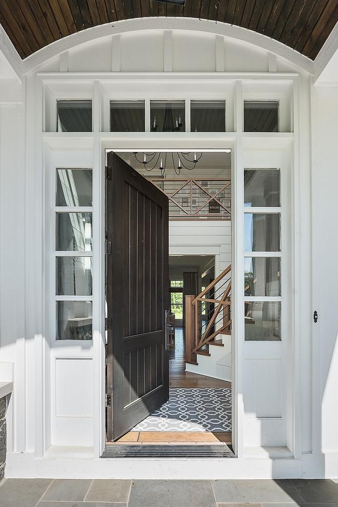 Front Door The front door is stained in Pratt and Lambert Phantom Front door #PrattandLambertPhantom #frontdoor #door