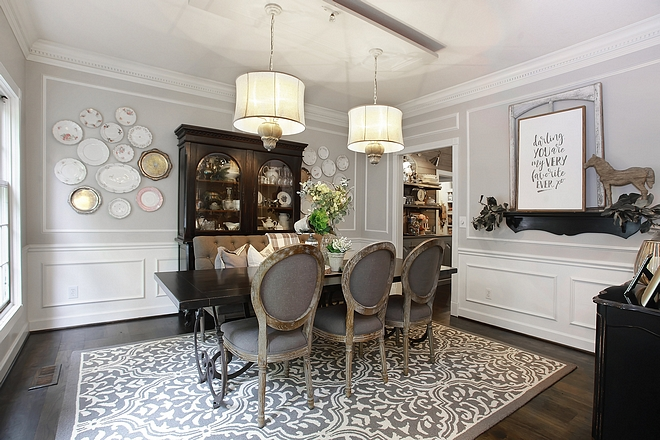 Wall color is Revere Pewter by Benjamin Moore Dining room paint color Wall color is Revere Pewter by Benjamin Moore #Revere Pewter by Benjamin Moore #ReverePewterbyBenjaminMoore