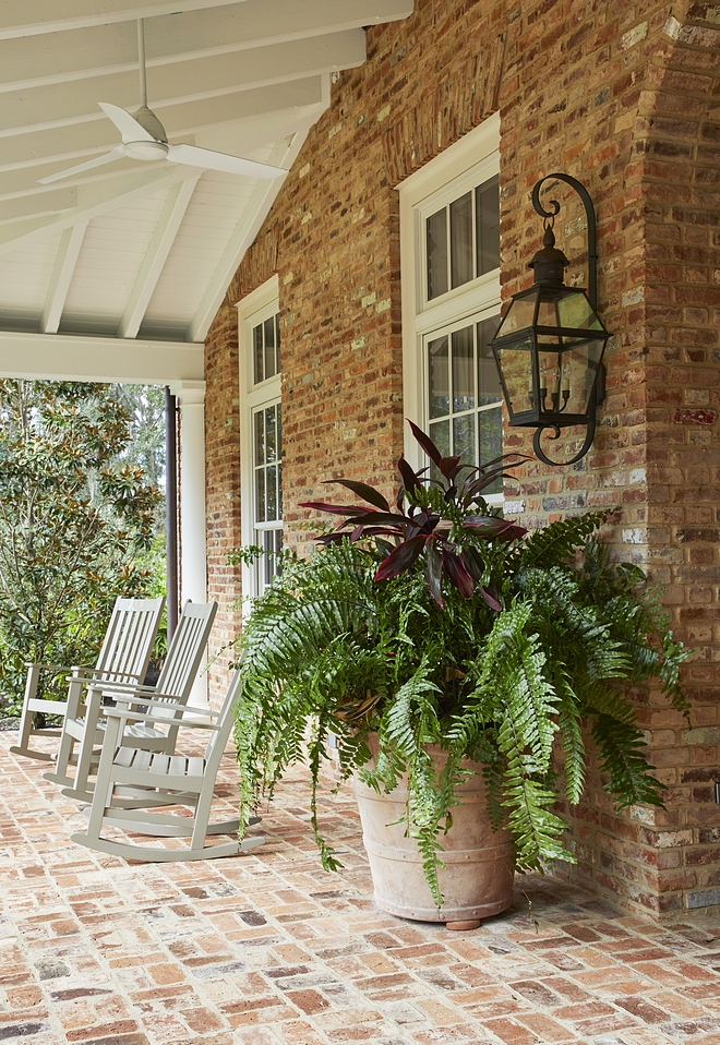 Brick House with brick porch Brick House with brick flooring on porch Brick is Reclaimed Old Chicago brick with rough mortar Brick House with brick porch ideas Traditional Brick House with brick porch #BrickHouse #brickporch #brick