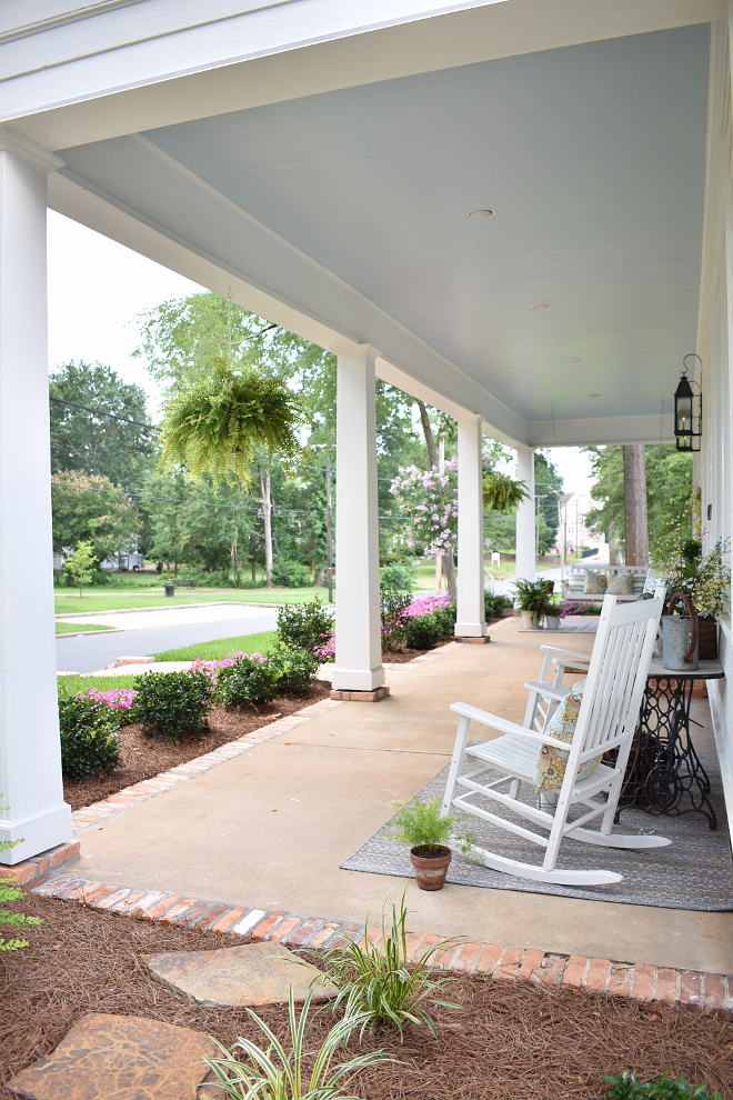 Atmospheric SW 6505 by Sherwin Williams Blue Ceiling Paint Color Blue Porch Ceiling Paint Color Atmospheric SW 6505 by Sherwin Williams #BluePorchCeiling #PaintColor #AtmosphericSW6505SherwinWilliams #SherwinWilliams