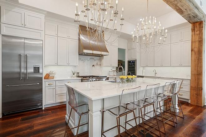 Kitchen wall Beams Cypress beams frames the kitchen opening Kitchen beams Kitchen beam #Cypressbeams #kitchen